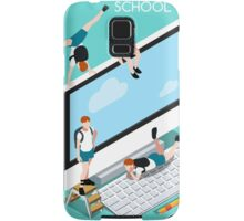 School Devices Set Desktop Personal Computer Samsung Galaxy Case/Skin