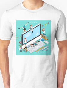 School Devices Set Desktop Personal Computer T-Shirt