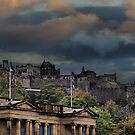 A Huge Storm Looms Over Edinburgh Castle by Sandra Cockayne