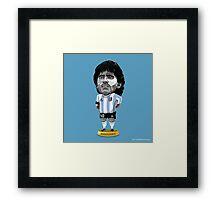 Maradona figure Framed Print
