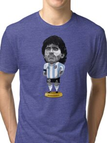 Maradona figure Tri-blend T-Shirt