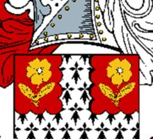 Coat of arms (family crest) for last-name or surname Mayfield . Heraldry banner for your name. Sticker