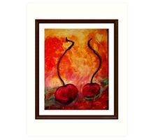 cherries on a beach Art Print