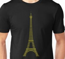 Eiffel In Night - Pencil by Pencil Unisex T-Shirt