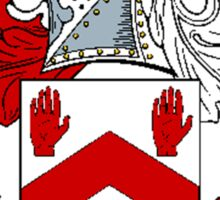 Coat of arms (family crest) for last-name or surname Maynard . Heraldry banner for your name. Sticker
