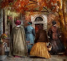 Autumn - A walk downtown  by Mike  Savad