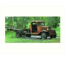 Rusty old truck-Western New South Wales Art Print