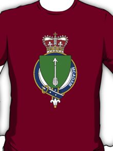 Coat of arms (family crest) for last-name or surname McAdam (ancient) Scotland . Heraldry banner for your name. T-Shirt