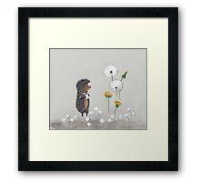 Nursery art - Hedgehog in the Fog Framed Print
