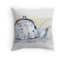 Purse and Necklace Throw Pillow