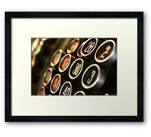 Cash Register Keys Framed Print