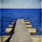 Lake Michigan Pier© by Dawn M. Becker