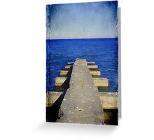 Lake Michigan Pier© Greeting Card