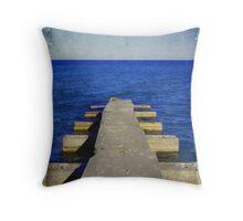 Lake Michigan Pier© Throw Pillow