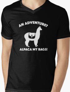 Alpaca My Bags Mens V-Neck T-Shirt