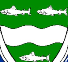 Coat of arms (family crest) for last-name or surname McCabe (Ireland) . Heraldry banner for your name. Sticker