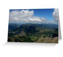 Mountains and Valleys Greeting Card