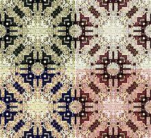 Four Tribal Mosaics 001 by koukouvaya