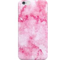 Hand drawn abstract square pink watercolor grunge background iPhone Case/Skin