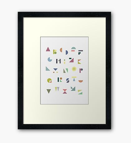 ABC Colorful Framed Print