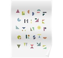 ABC Colorful Poster