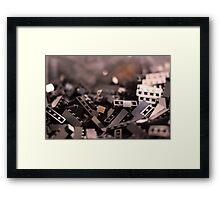 Black Legos  Framed Print