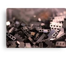 Black Legos  Canvas Print