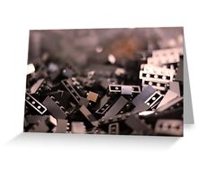 Black Legos  Greeting Card
