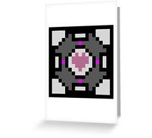 Companion Cube Greeting Card