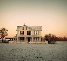 Snowy Abode by Lea  Weikert