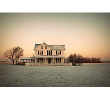 Snowy Abode Photographic Print