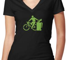 clean up.     Women's Fitted V-Neck T-Shirt