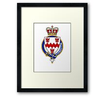 Coat of arms (family crest) for last-name or surname McCormack (Scotland) . Heraldry banner for your name. Framed Print