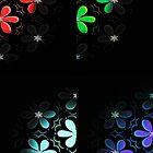 Four Floral Halftones 001 by koukouvaya