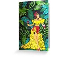 La Selva Caliente.  Greeting Card