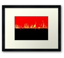 Collision of colors Framed Print