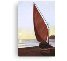 A Red Sail Sunset Canvas Print