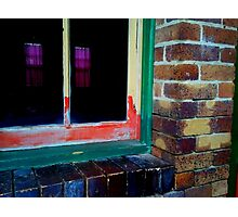 Window reflections from across the lane way. Photographic Print