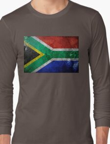South Africa Grunge Long Sleeve T-Shirt