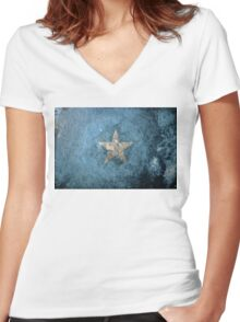 Somalia Grunge Women's Fitted V-Neck T-Shirt