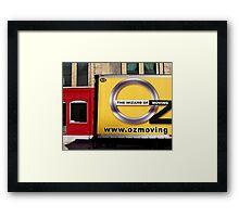 Oz Moving Company Framed Print
