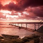 Coogee Rock Pool Sunrise by creativemonsoon