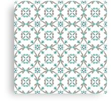 Vector ceramic tiles with seamless pattern Canvas Print
