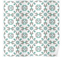 Vector ceramic tiles with seamless pattern Poster