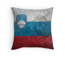 Slovenia Grunge Throw Pillow