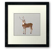 Nursery art - Deer that turns wishes Framed Print