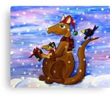 Christmas Roos Canvas Print