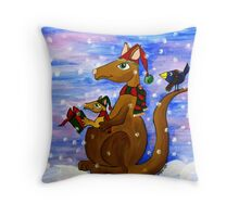 Christmas Roos Throw Pillow