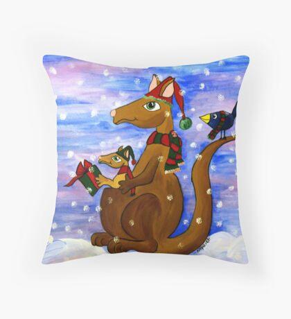 Christmas Roos Throw Pillow