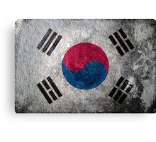 South Korea Grunge Canvas Print